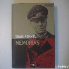 Libros de segunda mano: LIBRERIA GHOTICA. ERWIN ROMMEL. MEMORIAS DE GUERRA. FOLIO MENOR. MUY ILUSTRADO. 2007. Lote 103780315