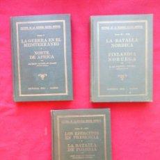 Libros de segunda mano: HISTORIA DE LA SEGUNDA GUERRA MUNDIAL VOLS II III Y V 1941 27 CMS 3400 GRS ENVÍO 5€*. Lote 103904143