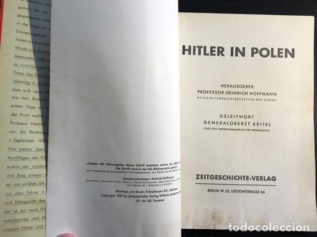 Libros de segunda mano: Mit Hitler in Polen. (Con Hitler en Polonia). Berlín, 1939. 200 fotos. (Nazismo - Foto 2 - 108702635