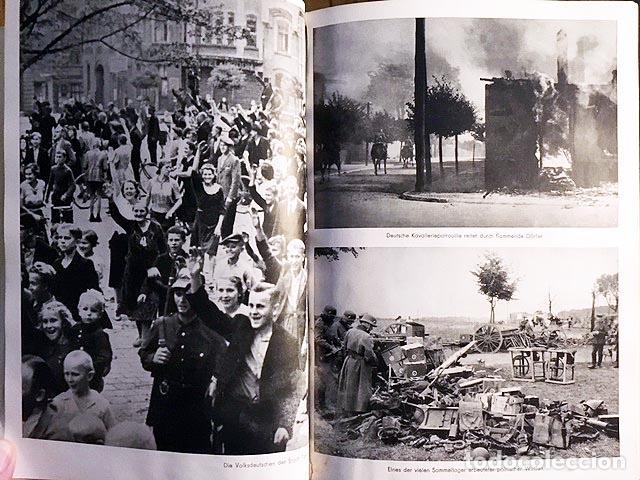 Libros de segunda mano: Mit Hitler in Polen. (Con Hitler en Polonia). Berlín, 1939. 200 fotos. (Nazismo - Foto 3 - 108702635