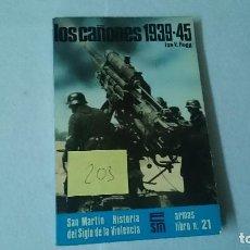 Libros de segunda mano: LOS CAÑONES 1939-1945 ED. SAN MARTIN ARMAS LIBRO Nº 21 203. Lote 110965783