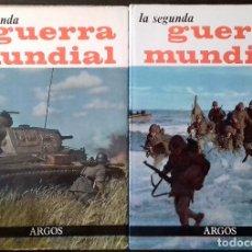 Libros de segunda mano: LA SEGUNDA GUERRA MUNDIAL ARGOS 1963 - TOMOS I Y II GRAN TAMAÑO- NUMEROSAS FOTOGRAFIAS COLOR Y B/N.. Lote 112113319