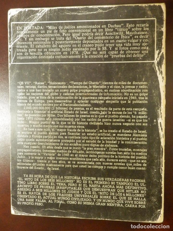 Libros de segunda mano: El Mito de los 6 millones - El Fraude de los Judios Asesinados por Hitler - J. Bochaca - - Foto 2 - 116496251
