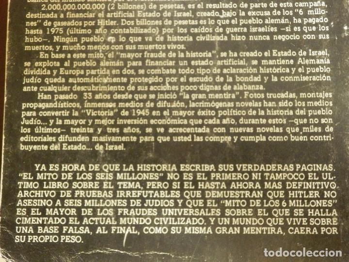 Libros de segunda mano: El Mito de los 6 millones - El Fraude de los Judios Asesinados por Hitler - J. Bochaca - - Foto 4 - 116496251