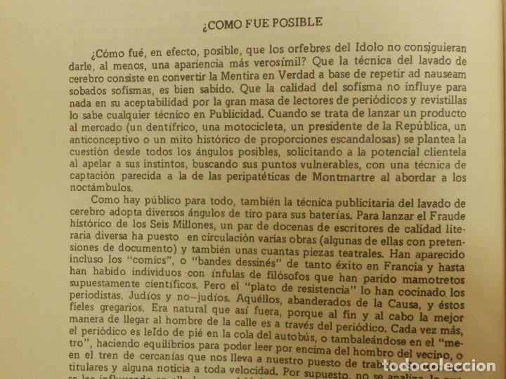 Libros de segunda mano: El Mito de los 6 millones - El Fraude de los Judios Asesinados por Hitler - J. Bochaca - - Foto 8 - 116496251