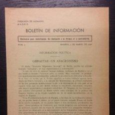 Libros de segunda mano: BOLETIN INFORMACION EMBAJADA ALEMANIA EN MADRID, 1940, NUM 7, EXCLUSIVO AUTORIDADES. Lote 119127175