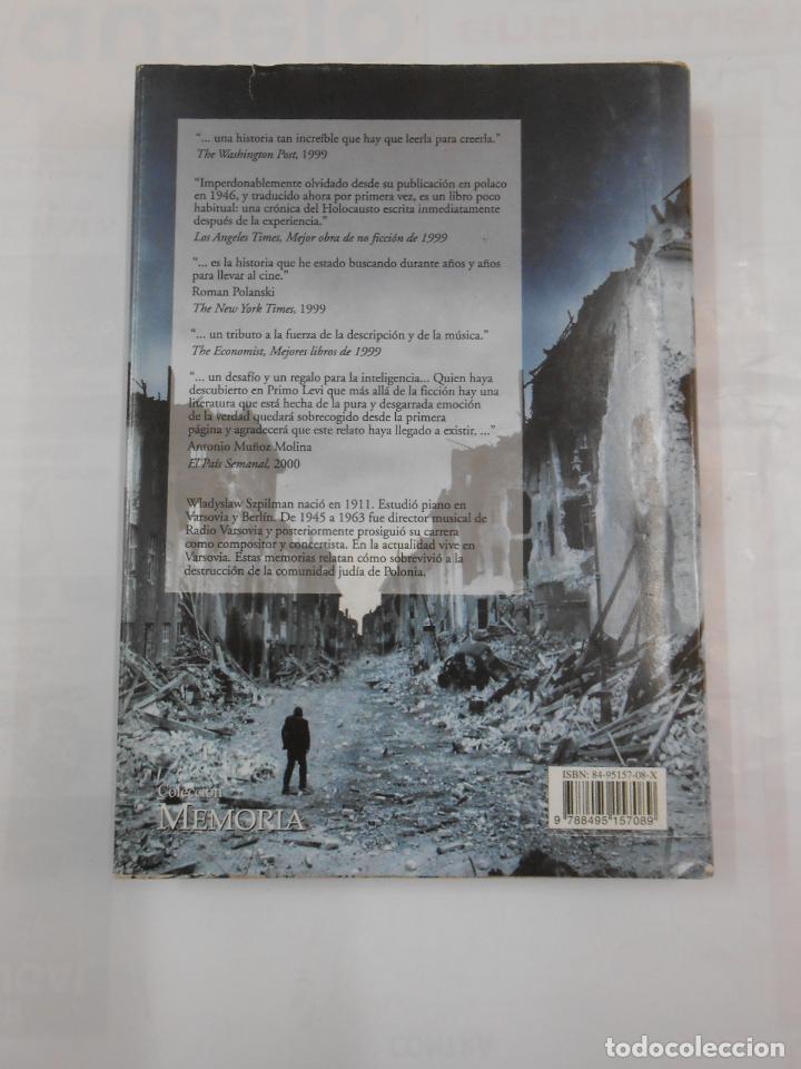 Libros de segunda mano: EL PIANISTA DEL GUETO DE VARSOVIA. WLADYSLAW SZPILMAN. tdk346 - Foto 2 - 121980187