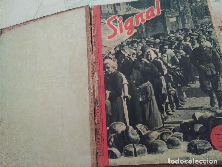 Libros de segunda mano: SIGNAL. AÑO 1940 , DEL NÚMERO 7 AL 17. AÑO 1941, DEL NÚMERO 1 AL 6. - Foto 2 - 126179467