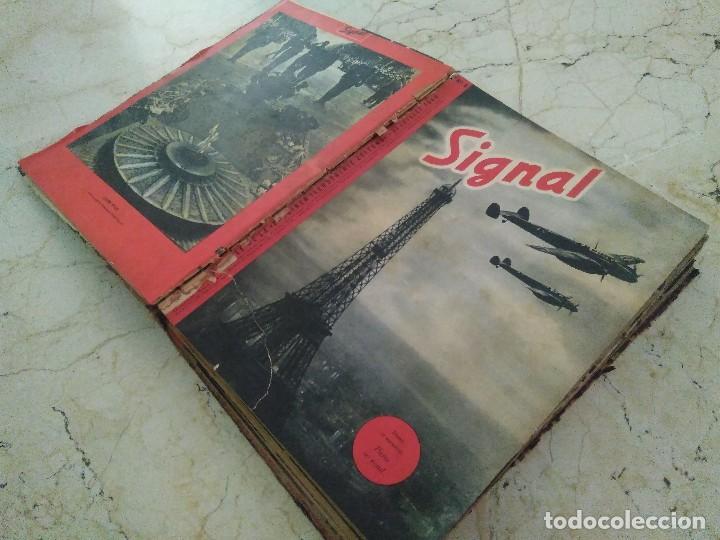 Libros de segunda mano: SIGNAL. AÑO 1940 , DEL NÚMERO 7 AL 17. AÑO 1941, DEL NÚMERO 1 AL 6. - Foto 3 - 126179467