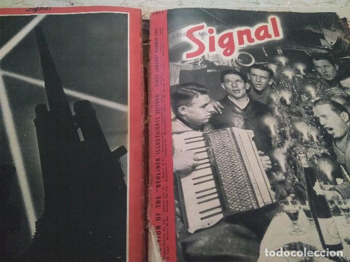 Libros de segunda mano: SIGNAL. AÑO 1940 , DEL NÚMERO 7 AL 17. AÑO 1941, DEL NÚMERO 1 AL 6. - Foto 4 - 126179467