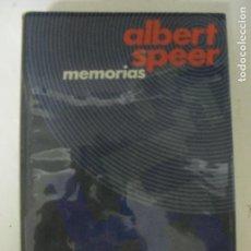 Libros de segunda mano: MEMORIAS. SPEER, ALBERT. PUBLICADO POR CÍRCULO DE LECTORES., BARCELONA. (1970) 689PP. Lote 130793016