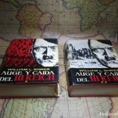 Libros de segunda mano: AUGE Y CAIDA DEL III REICH- WILLIAM L SHIRER- TOMOS I Y II. 1962. Lote 135358066