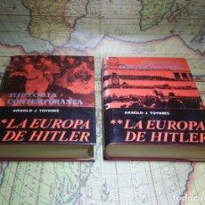 Libros de segunda mano: LA EUROPA DE HITLER- ARNOLD J. TOYNBEE. TOMO I Y II. 1963. Lote 135359182