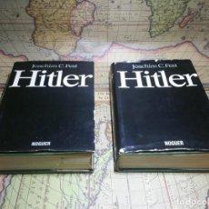 Libros de segunda mano: HITLER- JOACHIM C. FEST. TOMO I Y II- 1ª EDICION 1974. Lote 135359718
