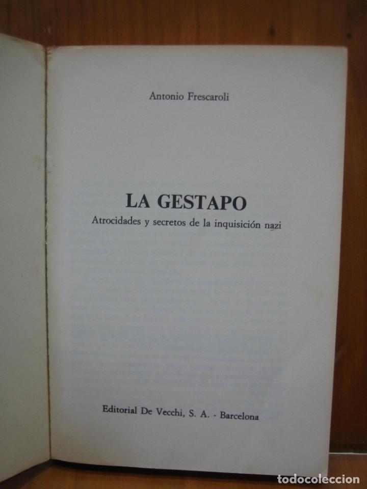 Libros de segunda mano: Segunda Guerra Mundial. La Gestapo - Foto 4 - 136623970