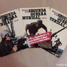 Libros de segunda mano: HISTORIA DE LA SEGUNDA GUERRA MUNDIAL,SALVAT,N° 0,1 Y 2. Lote 153522974
