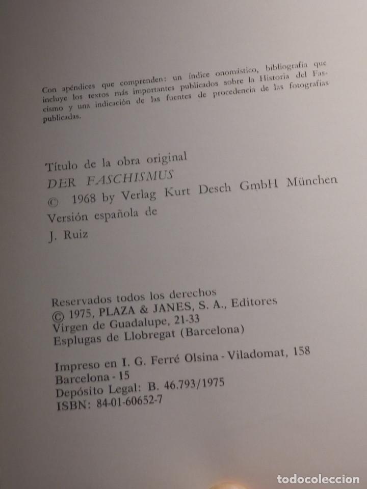 Libros de segunda mano: Libro - Fascismo - Ernst Nolte - De Mussolini a Hitler - Plaza y Janés 1975 - Foto 5 - 154613890