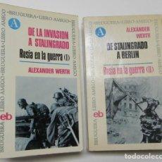 Libros de segunda mano: RUSIA EN LA GUERRA (2 TOMOS) - ALEXANDER WERTH. Lote 160236406