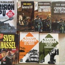 Libros de segunda mano: LOTE DE LIBROS DE SVEN HASSEL - PRISION SS CAMARADAS PANZERS GESTAPO. Lote 160804634