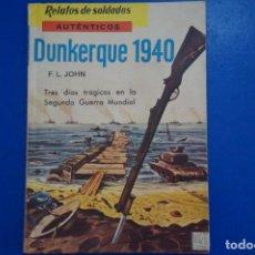 Libros de segunda mano: LIBRO DE DUNKERQUE 1940 AÑO 1963 Nº 11 DE EDICIONES MARTE LOTE 19. Lote 162561758