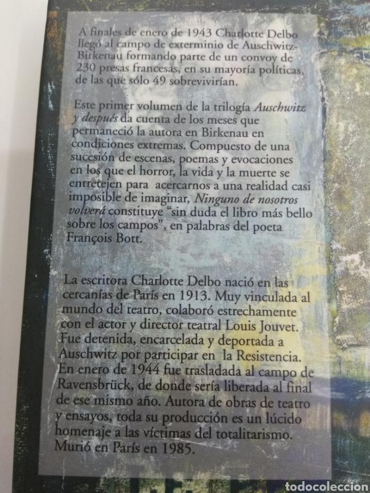 Charlotte Delbo Auschwitz Y Después I Ninguno De Nosotros Volvera Turpial Ediciones Nuevo Agotado