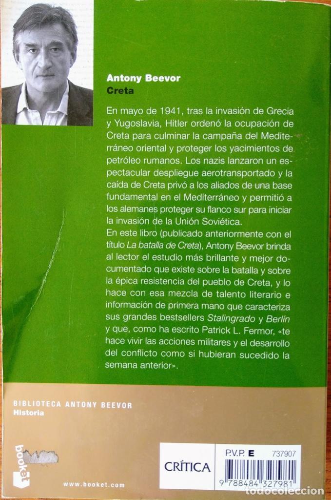 Libros de segunda mano: CRETA, LA BATALLA Y LA RESISTENCIA. ANTONY BEEVOR. - Foto 3 - 163478902