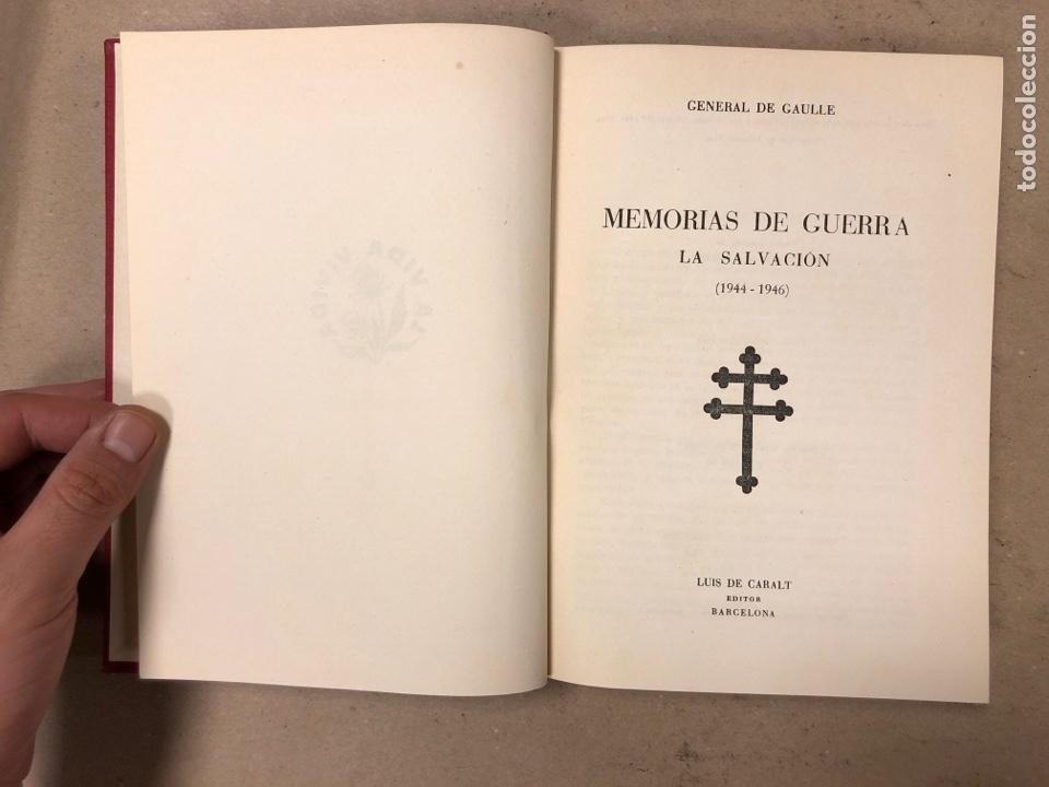 Libros de segunda mano: GENERAL DE GAULLE MEMORIAS DE GUERRA (3 TOMOS). EL LLAMAMIENTO, LA UNIDAD y lA SALVACIÓN. ED. LUIS D - Foto 4 - 168621742