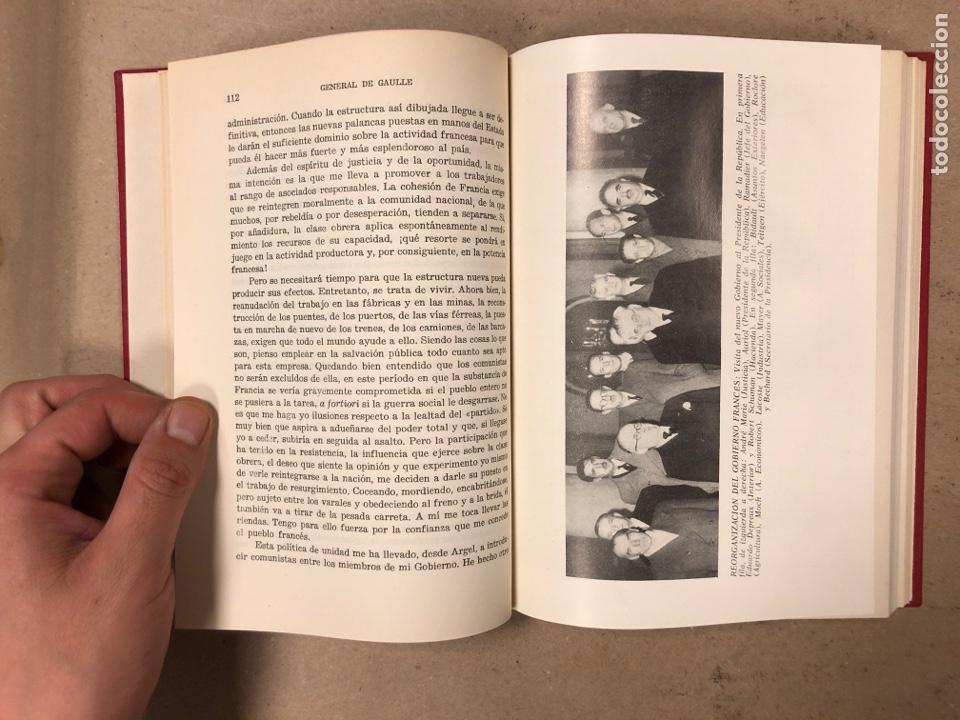 Libros de segunda mano: GENERAL DE GAULLE MEMORIAS DE GUERRA (3 TOMOS). EL LLAMAMIENTO, LA UNIDAD y lA SALVACIÓN. ED. LUIS D - Foto 7 - 168621742