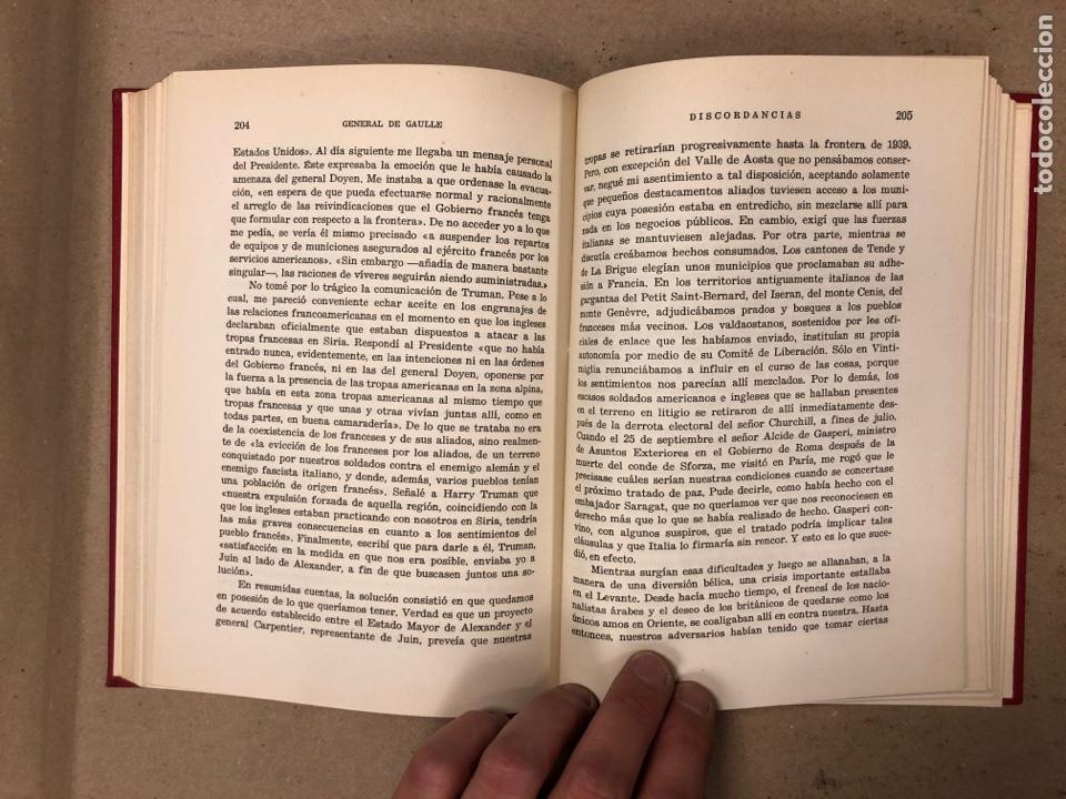 Libros de segunda mano: GENERAL DE GAULLE MEMORIAS DE GUERRA (3 TOMOS). EL LLAMAMIENTO, LA UNIDAD y lA SALVACIÓN. ED. LUIS D - Foto 8 - 168621742