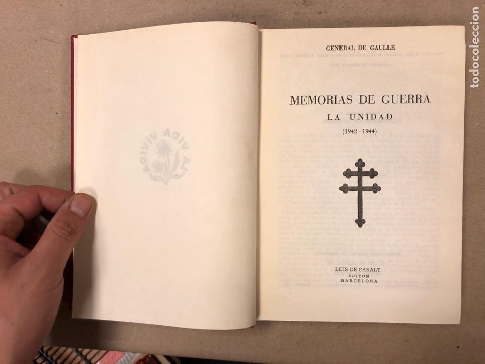 Libros de segunda mano: GENERAL DE GAULLE MEMORIAS DE GUERRA (3 TOMOS). EL LLAMAMIENTO, LA UNIDAD y lA SALVACIÓN. ED. LUIS D - Foto 11 - 168621742