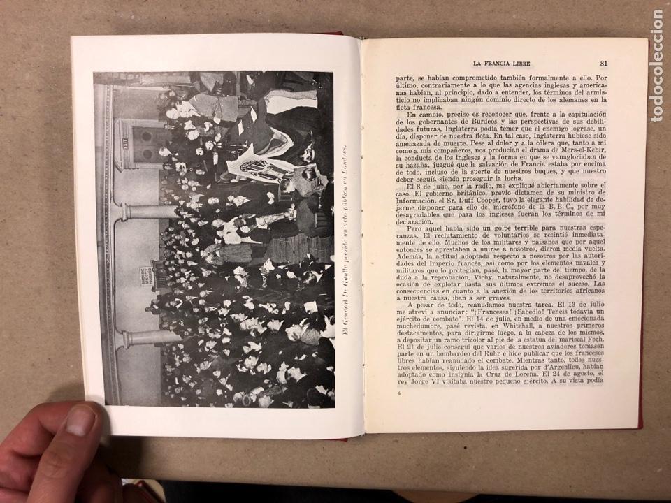 Libros de segunda mano: GENERAL DE GAULLE MEMORIAS DE GUERRA (3 TOMOS). EL LLAMAMIENTO, LA UNIDAD y lA SALVACIÓN. ED. LUIS D - Foto 19 - 168621742