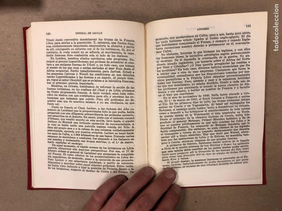 Libros de segunda mano: GENERAL DE GAULLE MEMORIAS DE GUERRA (3 TOMOS). EL LLAMAMIENTO, LA UNIDAD y lA SALVACIÓN. ED. LUIS D - Foto 20 - 168621742