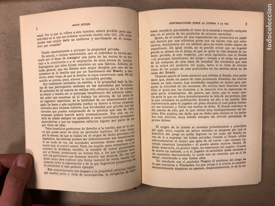 Libros de segunda mano: ADOLF HITLER. CONVERSACIONES SOBRE LA GUERRA Y LA PAZ (2 TOMOS, 1941-1942 y 1942-1944). LUIS DE CAR - Foto 14 - 168622984