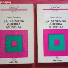 Libros de segunda mano: LA PRIMERA GUERRA MUNDIAL / LA SEGUNDA GUERRA MUNDIAL-HENRI MICHEL.. Lote 171061084