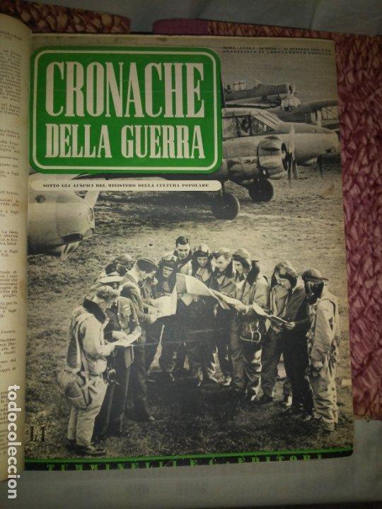 Libros de segunda mano: CRONACHE DELLA GUERRA - REVISTAS ORIGINALES II GUERRA MUNDIAL 1939-1943. - Foto 2 - 174522113