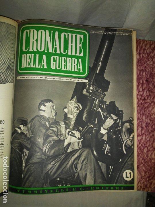 Libros de segunda mano: CRONACHE DELLA GUERRA - REVISTAS ORIGINALES II GUERRA MUNDIAL 1939-1943. - Foto 7 - 174522113