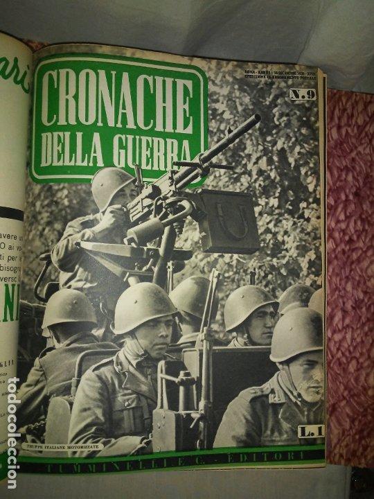 Libros de segunda mano: CRONACHE DELLA GUERRA - REVISTAS ORIGINALES II GUERRA MUNDIAL 1939-1943. - Foto 8 - 174522113