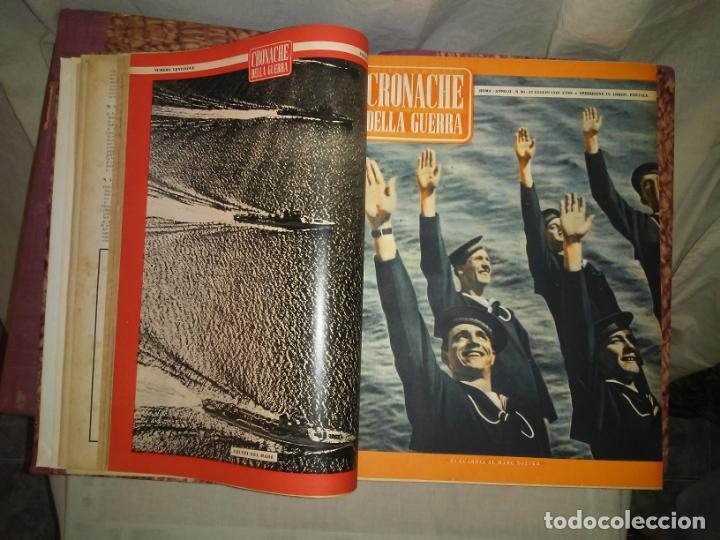 Libros de segunda mano: CRONACHE DELLA GUERRA - REVISTAS ORIGINALES II GUERRA MUNDIAL 1939-1943. - Foto 10 - 174522113