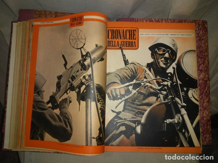 Libros de segunda mano: CRONACHE DELLA GUERRA - REVISTAS ORIGINALES II GUERRA MUNDIAL 1939-1943. - Foto 12 - 174522113