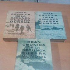 Libros de segunda mano: GRAN CRÓNICA DE LA SEGUNDA GUERRA MUNDIAL 3 TOMOS COMPLETA - LEER - VER FOTOS. Lote 174970129