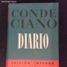 Libros de segunda mano: CONDE CIANO .DIARIO. EDICIÓN INTEGRA,PRIMERA EDICION MAYO 1946.TELA EDITORIAL CON SOBRECUBIERTA.. Lote 175942063