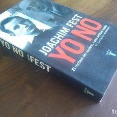 Libros de segunda mano: YO NO JOACHIM FEST. Lote 179080253