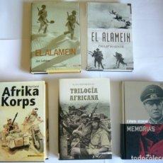 Libros de segunda mano: LOTE DE CINCO LIBROS SOBRE LA GUERRA DEL DESIERTO - 2ª GUERRA MUNDIAL. Lote 180071482
