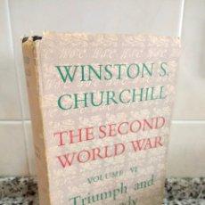 Libros de segunda mano: WINSTON CHURCHILL.THE SECOND WORLD WAR VOLUMEVITRIUMPH AND TRAGEDY.CASSELL.. Lote 180836761