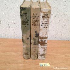 Libros de segunda mano: CRÓNICA DE LA SEGUNDA GUERRA MUNDIAL 3 TOMOS. Lote 189116670