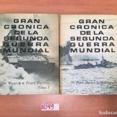 Libros de segunda mano: GRAN CRÓNICA DE LA SEGUNDA GUERRA MUNDIAL. Lote 196991492