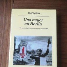 Libros de segunda mano: UNA MUJER EN BERLIN INTRODUCCION DE HANS MAGNUS ENZENSBERGER - EDITORIAL ANAGRAMA 2006 -. Lote 197229841