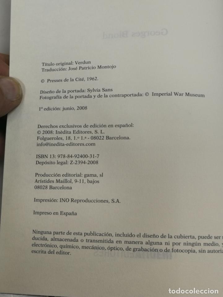 Libros de segunda mano: LA BATALLA DE VERDUN, GEORGES BLOND, EDITA EDITORES, 1ª EDICION 2008 2008 1ª EDICION - Foto 2 - 204107055