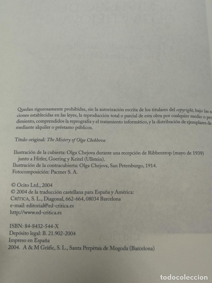 Libros de segunda mano: EL MISTERIO DE OLGA CHEJOVA ANTHONY BEEVOR. 1ª EDICION 2004 EDITORIAL CRITICA - Foto 2 - 204107391