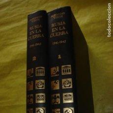 Libros de segunda mano: RUSIA EN LA GUERRA 1941 - 1945. ALEXANDER WERTH. AÑO 1968. 2 TOMOS. OBRA COMPLETA. MUY ILUSTRADA.. Lote 204313481
